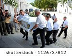 editorial use only. funeral... | Shutterstock . vector #1126737812