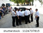 editorial use only. funeral... | Shutterstock . vector #1126737815