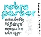 vector lowercase funky disco...   Shutterstock .eps vector #1126737872