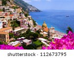View Of The Town Of Positano...