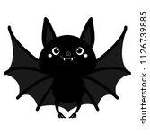 Bat Flying. Cute Cartoon Baby...