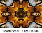 orange with blue autumnal... | Shutterstock . vector #1126746638
