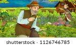cartoon scene with man in the... | Shutterstock . vector #1126746785