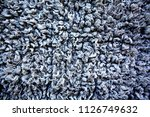 white synthetic wool background. | Shutterstock . vector #1126749632