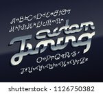 vector 3d metallic font named ... | Shutterstock .eps vector #1126750382