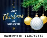 merry christmas and happy new... | Shutterstock .eps vector #1126751552