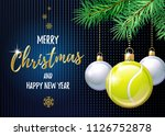 merry christmas and happy new... | Shutterstock .eps vector #1126752878