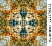 abstract kaleidoscopic seamless ... | Shutterstock . vector #1126755506