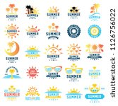 summer holidays design elements.... | Shutterstock .eps vector #1126756022