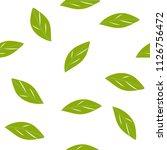 green leaves pattern seamless... | Shutterstock .eps vector #1126756472