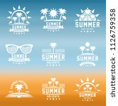 summer holidays design elements ... | Shutterstock .eps vector #1126759358