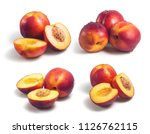 set of four groups of fresh... | Shutterstock . vector #1126762115