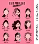 hair problems collection.... | Shutterstock .eps vector #1126762202