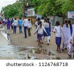 bodhgaya  india   july 9  2015. ... | Shutterstock . vector #1126768718