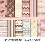 abstract vector set of...