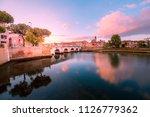 colorful rimini cityscape at... | Shutterstock . vector #1126779362