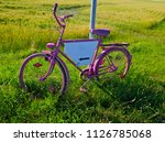 Pink Painted Bicycle With A...