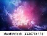 space of night sky with cloud... | Shutterstock . vector #1126786475
