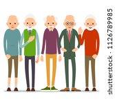 group of old people. older man... | Shutterstock . vector #1126789985
