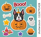 vector set of halloween icons... | Shutterstock .eps vector #1126791428