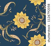 floral seamless pattern ... | Shutterstock .eps vector #1126792058