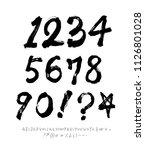 vector fonts   handwritten... | Shutterstock .eps vector #1126801028