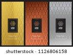 luxury vector metallic styles... | Shutterstock .eps vector #1126806158
