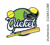cricket logo with text space... | Shutterstock .eps vector #1126811288
