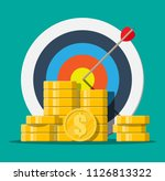 target with arrow and pile of... | Shutterstock .eps vector #1126813322