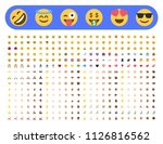 basic face and hand emojis ... | Shutterstock .eps vector #1126816562