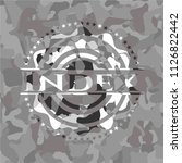 index on grey camouflaged... | Shutterstock .eps vector #1126822442