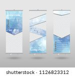roll up banner template and... | Shutterstock .eps vector #1126823312