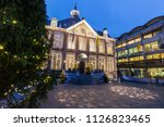 hasselt city hall at night.... | Shutterstock . vector #1126823465