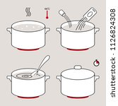 steps how to cook food.... | Shutterstock .eps vector #1126824308