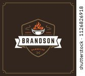 grill restaurant logo vector... | Shutterstock .eps vector #1126826918