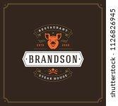 grill restaurant logo vector... | Shutterstock .eps vector #1126826945