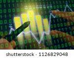 businessman on digital stock... | Shutterstock . vector #1126829048