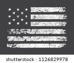 grunge american flag.dirty flag ... | Shutterstock .eps vector #1126829978
