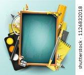 school design template with...   Shutterstock .eps vector #1126832018