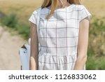 beautiful  young girl looking... | Shutterstock . vector #1126833062