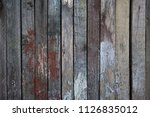 old wooden wall of boards... | Shutterstock . vector #1126835012