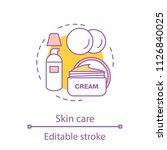 skin care concept icon.... | Shutterstock .eps vector #1126840025