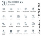 set of 100 cryptocurrency...