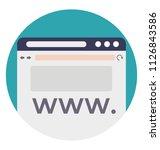 world wide web abbreviated www... | Shutterstock .eps vector #1126843586