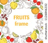 food frame vector   Shutterstock .eps vector #1126846232