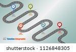 business road map timeline... | Shutterstock .eps vector #1126848305
