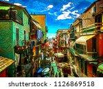 Bright Summer Street In Italy ...