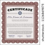 red diploma template. easy to... | Shutterstock .eps vector #1126869875