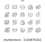 tableware well crafted pixel... | Shutterstock .eps vector #1126870262