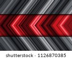 abstract red gray arrow line... | Shutterstock .eps vector #1126870385